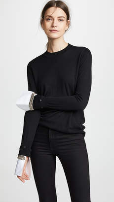 ADAM by Adam Lippes Crystal Cuff Sweater