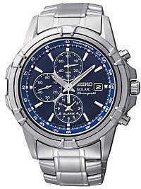 Seiko Men's Stainless Steel Solar Chronograph Bracelet Watch