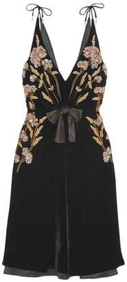 Altuzarra Lisabetta Embellished Velvet Dress