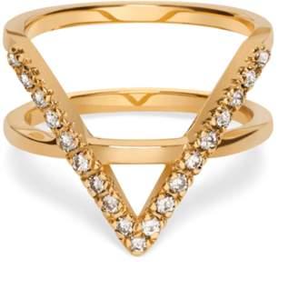Icon Eyewear Aurate Ring with White Diamonds