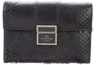 Valentino Snakeskin Compact Wallet