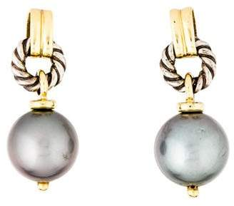 David Yurman Pearl Drop Earrings