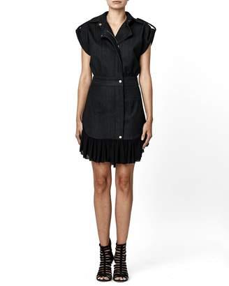Nicole Miller Dark Denim Button Up Dress