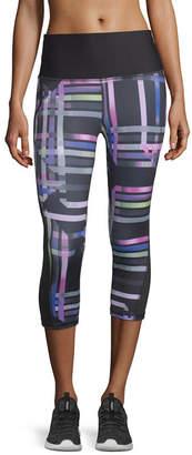 Xersion Colorblock Jersey Workout Capris