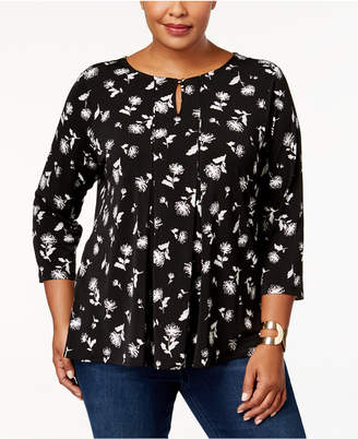 Charter Club Plus Size Floral-Print Top