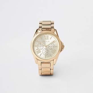 River Island Gold colour 3 dials bracelet watch