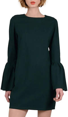Molly Bracken Premium Flounce Sleeve Shift Dress