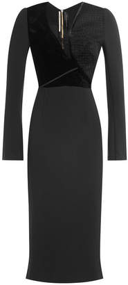 Roland Mouret Dress with Seer Inserts and Velvet