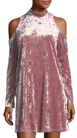 Crushed Velvet Flare Dress