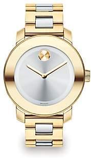Movado Women's BOLD Two-Tone IP Stainless Steel Bracelet Watch/36MM