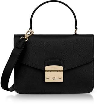 Furla Onyx Lizard Printed Leather Metropolis Small Top-Handle Shoulder Bag