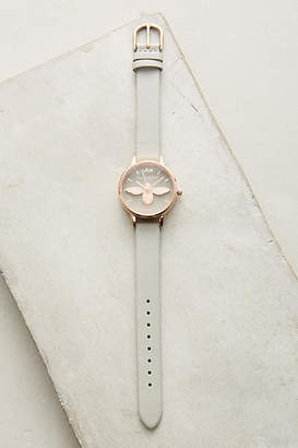 Olivia Burton Grey Bee Watch $198 thestylecure.com