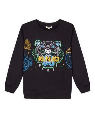 Kenzo Tiger Icon Embroidered Sweatshirt, Size 14-16