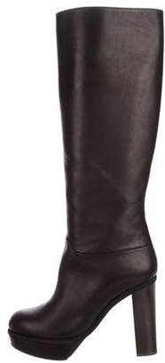 Marni Leather Platform Knee-High Boots
