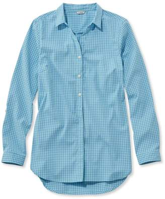 L.L. Bean L.L.Bean Stretch Travel Tunic Shirt, Gingham
