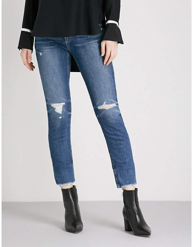 Dre Ankle skinny high-rise jeans