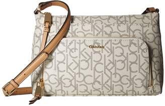 Calvin Klein Key Item Monogram Multi Entry Crossbody Cross Body Handbags