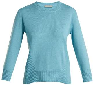 Bottega Veneta Ribbed Crew Neck Cashmere Sweater - Womens - Blue