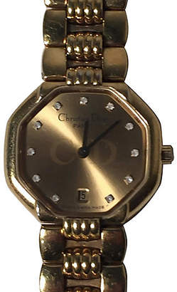 One Kings Lane Vintage Dior Gold-Plated Diamond Watch - Treasure Trove NYC