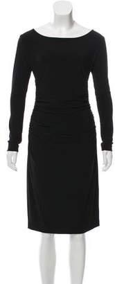 Norma Kamali Kamalikulture x Gathered Knee-Length Dress