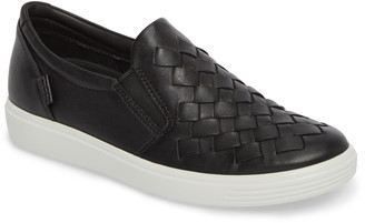 Ecco Soft 7 Woven Slip-On Sneaker
