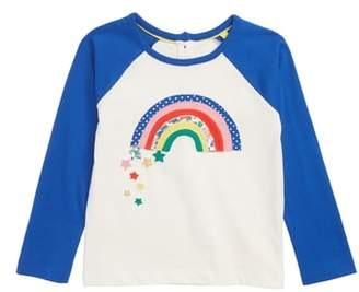 Boden Mini Rainbow Applique Raglan Shirt