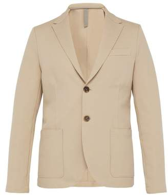 Harris Wharf London Single Breasted Cotton Blend Pique Blazer - Mens - Beige