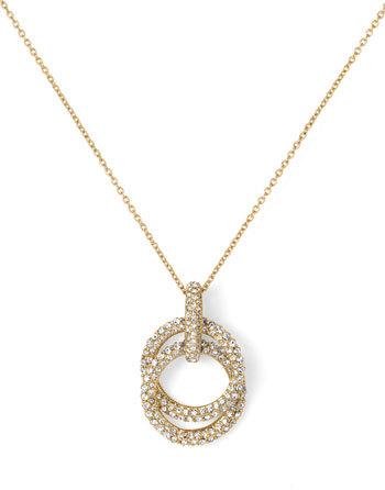 Nadri Double Ring Pendant Necklace