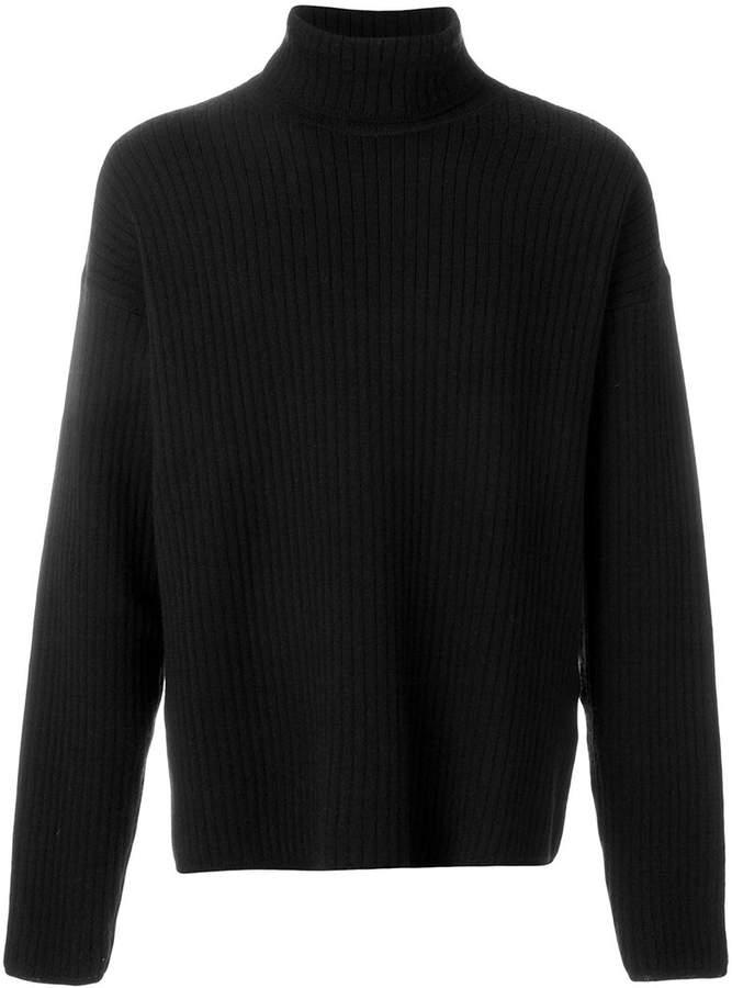 Ami Alexandre Mattiussi Turtleneck Oversize Fit Double Face Rib Sweater