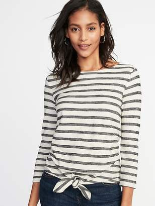 Old Navy Relaxed Tie-Front Mariner Top for Women
