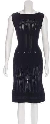 Alaia Virgin Wool Fit and Flare Dress