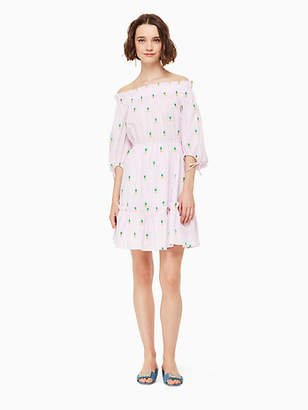 Kate Spade Pineapple off the shoulder dress