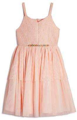 Pippa & Julie Girls' Brocade Tiered Tutu Dress - Big Kid