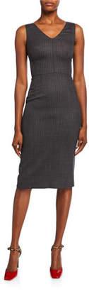 Dolce & Gabbana Sleeveless Pinstripe Wool Dress