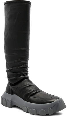 Rick Owens Stretch Leather Hiking Socks