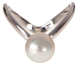 Splendid Pearls Fancy 8-9mm Freshwater Pearl Swirl Ring