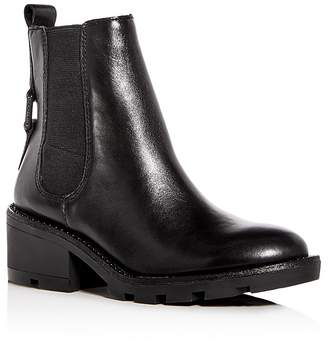 Kendall And Kylie Women's Porter Leather Mid Heel Chelsea Booties