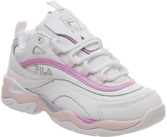 Fila Ray Trainers White Heavenly Pink Purple Exclusive