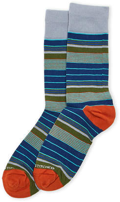 N. Unsimply Stitched Sea Stripe Crew Socks