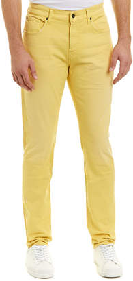 7 For All Mankind Seven 7 Adrien Dusty Yellow Straight Leg