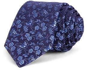 Ted Baker Daisy Jacquard Silk Skinny Tie