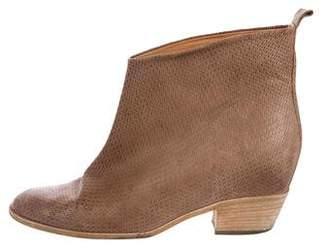 Maison Margiela Leather Round-toe Ankle Boots