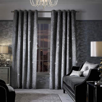 Grazia Lined Eyelet Curtains