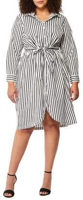 Wilson Rebel X Angels Tie Front Shirtdress (Plus Size)