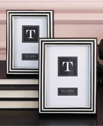 Twos Company Two's Company Two's Company Set of 2 Black and White Photo Frames Includes 2 Sizes