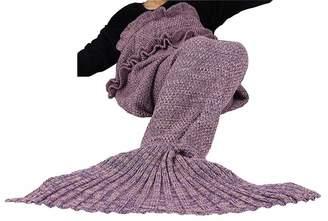 FASHION FAIRIES Ladies Womens Knitted Dress Mermaid Tail Lapghan Rug Handmade Crocheted Blanket#( Mermaid Tail Dress##Womens)