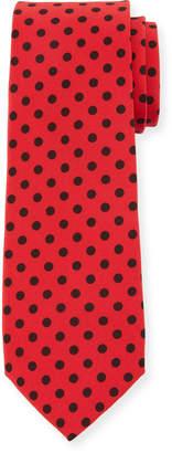Dolce & Gabbana Polka-Dot Silk Tie, Red/Black