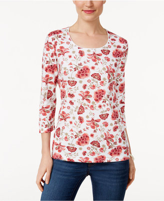 Karen Scott Printed Top, Only at Macy's $9.98 thestylecure.com