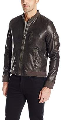 LAMARQUE Men's Philo Lambskin Ma-1 Leather Bomber Jacket