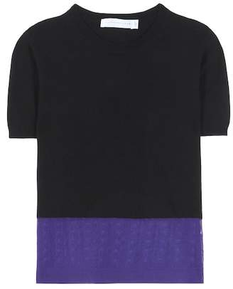 Victoria Beckham Cashmere-blend blouse